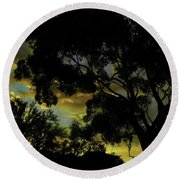 Spring Morning Round Beach Towel by Mark Blauhoefer