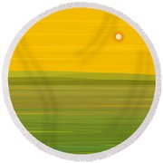 Round Beach Towel featuring the digital art Spring Morning - Square by Val Arie