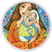Spring Mother Round Beach Towel