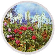 Round Beach Towel featuring the photograph Spring by Munir Alawi
