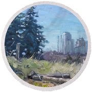 Spring Over The Hills Round Beach Towel