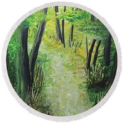 Spring Path Round Beach Towel
