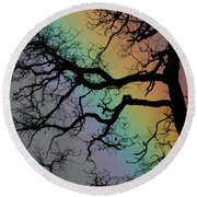 Spring Rainbow Round Beach Towel by Cathie Douglas