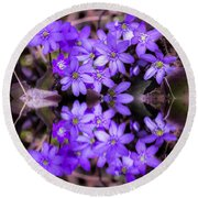Round Beach Towel featuring the photograph Spring by Rose-Maries Pictures