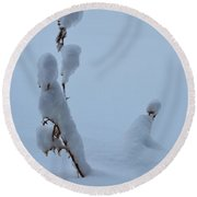 Spring Snow Round Beach Towel