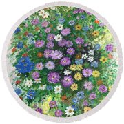 Spring Splendor Round Beach Towel by Lucia Grilletto