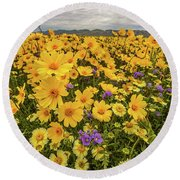 Spring Super Bloom Round Beach Towel by Peter Tellone