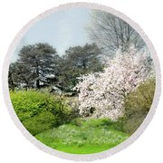 Round Beach Towel featuring the photograph Spring Treasures by Diana Angstadt