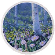 Spring Treasures Round Beach Towel