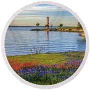 Spring Wildflowers Of Lake Buchanan Round Beach Towel