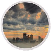 Springfield Pittsburgh Pa Round Beach Towel by Emmanuel Panagiotakis
