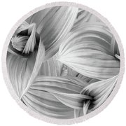 Springs Dance Of Form Round Beach Towel