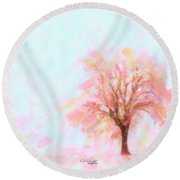 Round Beach Towel featuring the painting Springtime by Chris Armytage