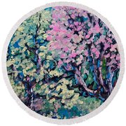 Springtime Colors Round Beach Towel