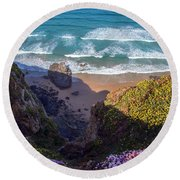 Springtime In Cornwall Round Beach Towel
