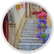 Springtime In Italy  Round Beach Towel
