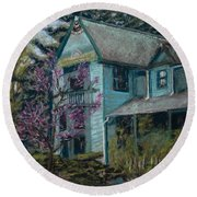 Springtime In Old Town Round Beach Towel