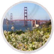 Round Beach Towel featuring the photograph Springtime On The Bay by Everet Regal