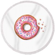 Sprinkled And Sweet Round Beach Towel by Elizabeth Robinette Tyndall
