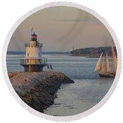 Sprint Point Ledge Sails Round Beach Towel