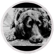 Sprocker Sketch Round Beach Towel