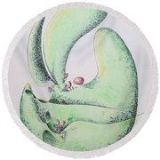 Sprout Round Beach Towel