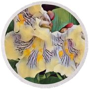 Round Beach Towel featuring the photograph Spun Gold by Kathie Chicoine