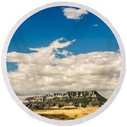 Square Butte Round Beach Towel