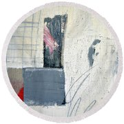 Round Beach Towel featuring the painting Square Study Project 12 by Michelle Calkins