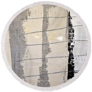 Round Beach Towel featuring the painting Square Study Project 2 by Michelle Calkins