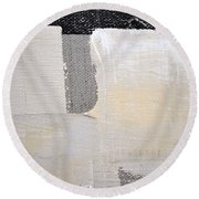 Round Beach Towel featuring the painting Square Study Project 3 by Michelle Calkins