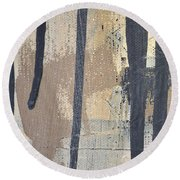 Round Beach Towel featuring the painting Square Study Project 5 by Michelle Calkins