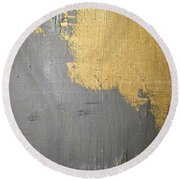 Round Beach Towel featuring the painting Square Study Project 6 by Michelle Calkins