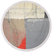 Round Beach Towel featuring the painting Square Study Project 8 by Michelle Calkins
