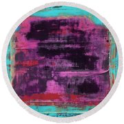 Art Print Square1 Round Beach Towel