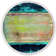 Art Print Square3 Round Beach Towel