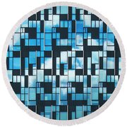 Squaretangle Round Beach Towel