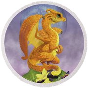 Squash Dragon Round Beach Towel by Stanley Morrison