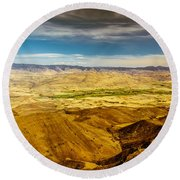 Squaw Butte View Hdr-2 Round Beach Towel