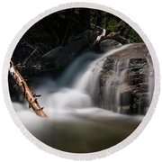 Round Beach Towel featuring the photograph Squaw Creek by Sean Foster