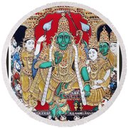 Sri Ramar Pattabhishekam Round Beach Towel