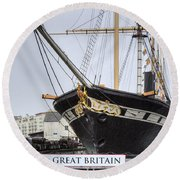 Ss Great Britain - Bristol Round Beach Towel