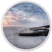 Ss. Lawrence Wreck - Boiler Round Beach Towel