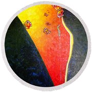 Round Beach Towel featuring the painting ss1 by Viktor Lazarev