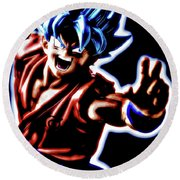 Ssjg Goku Round Beach Towel