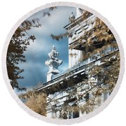 St Alfege Parish Church In Greenwich, London Round Beach Towel by Helga Novelli