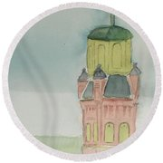 St. Alphonsis Church Wheeling Round Beach Towel