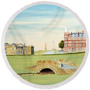 St Andrews Golf Course Scotland - Royal And Ancient Round Beach Towel