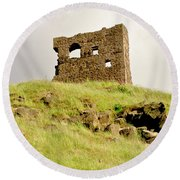 St. Anthony's Chapel Ruins. Round Beach Towel