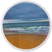 St Augustine Beach Florida Round Beach Towel